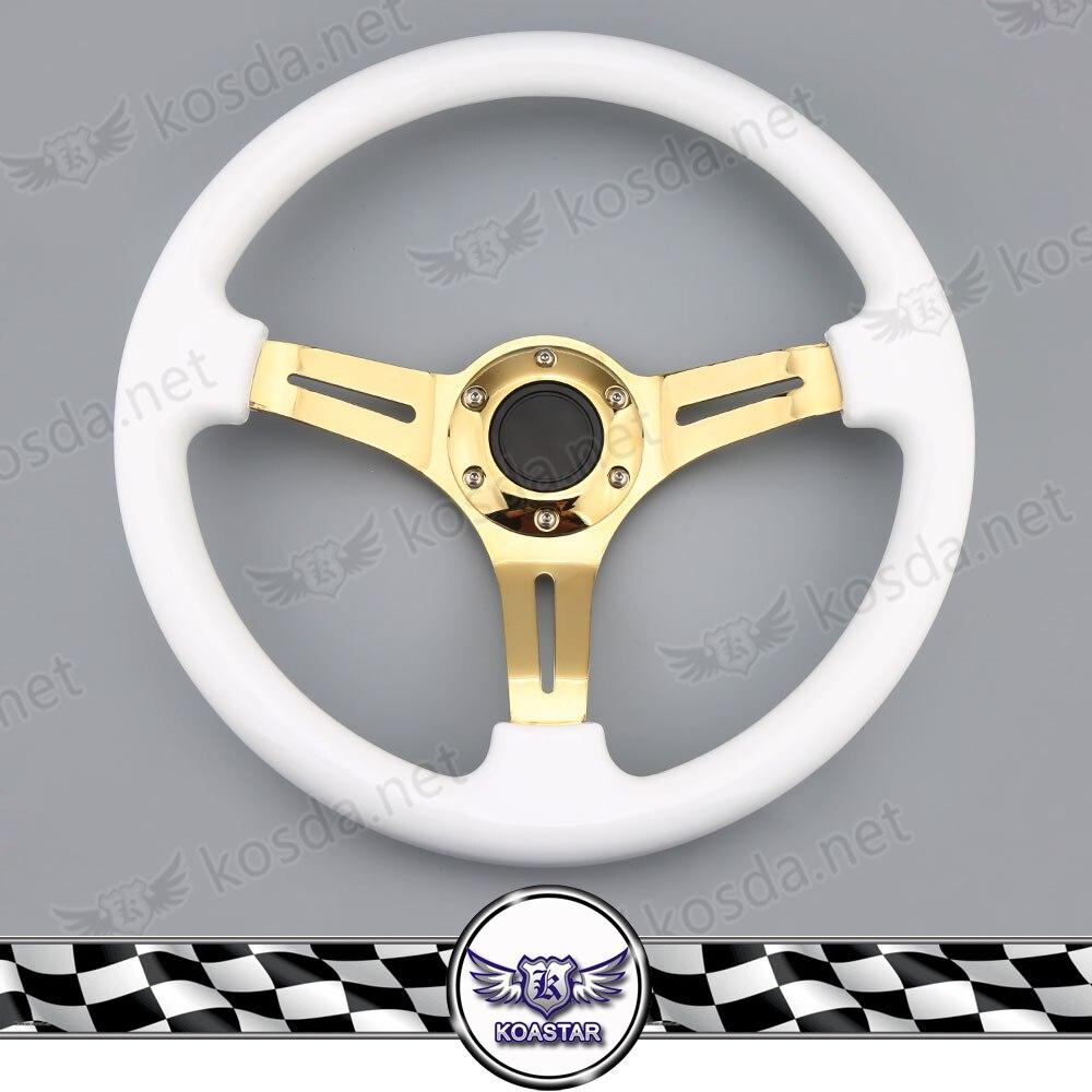 Gold Spoke 350mm ABS Steering Wheel Racing Car Steering