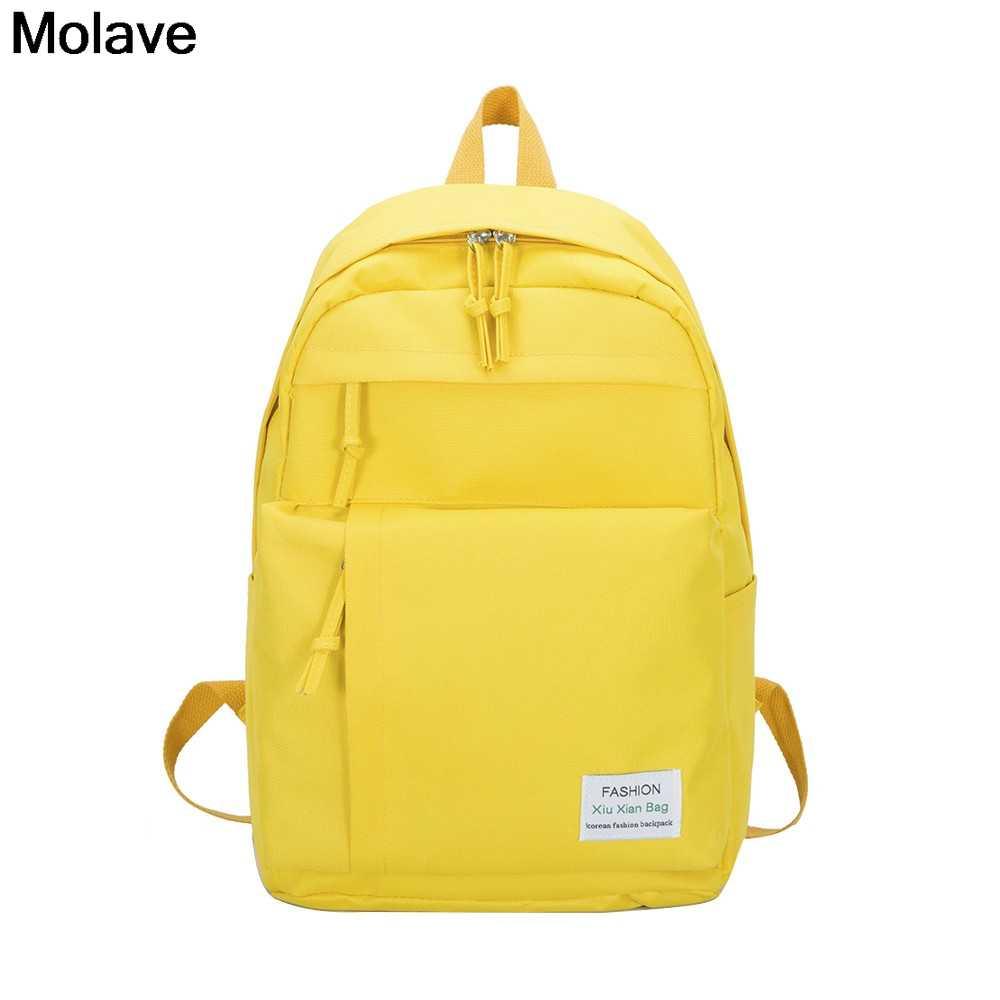 MOLAVE Rucksack Nylon Mochilas Taschen Paar Rucksäcke Teenager Schule Taschen Einfache Vielseitig College-Campus Rucksack 33. DEC.30
