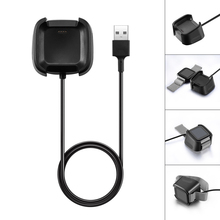 New Charging Base Desktop Charger ForFitbit Versa Watch Charging Cradle Dock USB Data Charging Cable micro usb charging dock charger data cradle