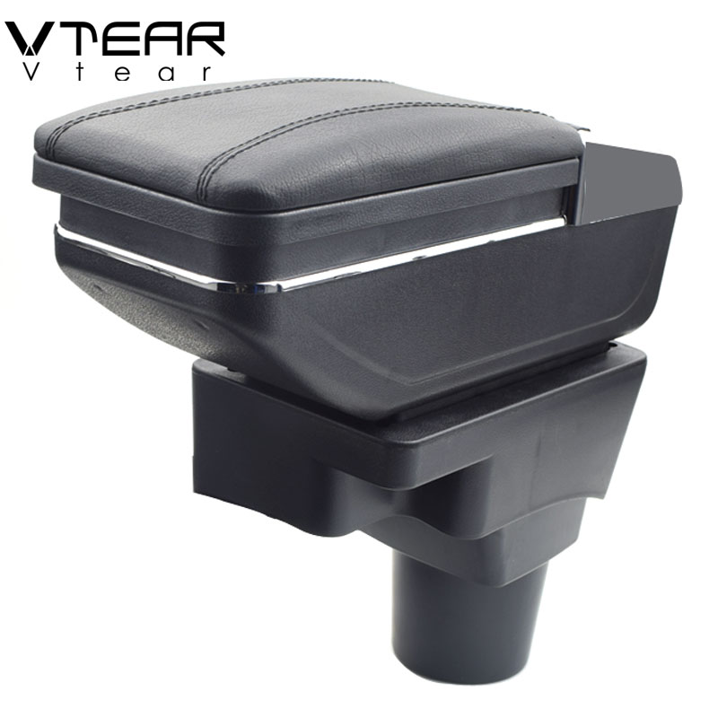 Vtear for Chevrolet Aveo Sonic Lova T250 T300 armrest box central Store content Storage box cup