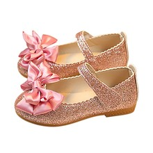 10d772de9 Baby Girl Princess Shoes 2019 Fashion Ballet Flats Children s Shoes Lovely  Bling-bling Princess Shoe · 3 Colors Available