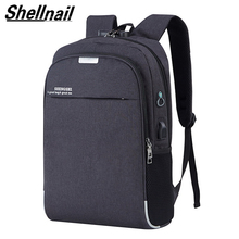 Shellnail Waterproof Laptop Bag Travel Backpack Multi Function Anti Theft Bag For Men PC Backpack USB Charging For Macbook IPAD 2018 new travel men s backpack multi function fashion anti theft backpack smart usb charging computer bag