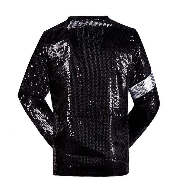 Classic MJ Michael Jackson Billie Jean Sequin Jacket Kids Adults Show Pacthwork Black Outwear Plus Size 4XS-4XL 1