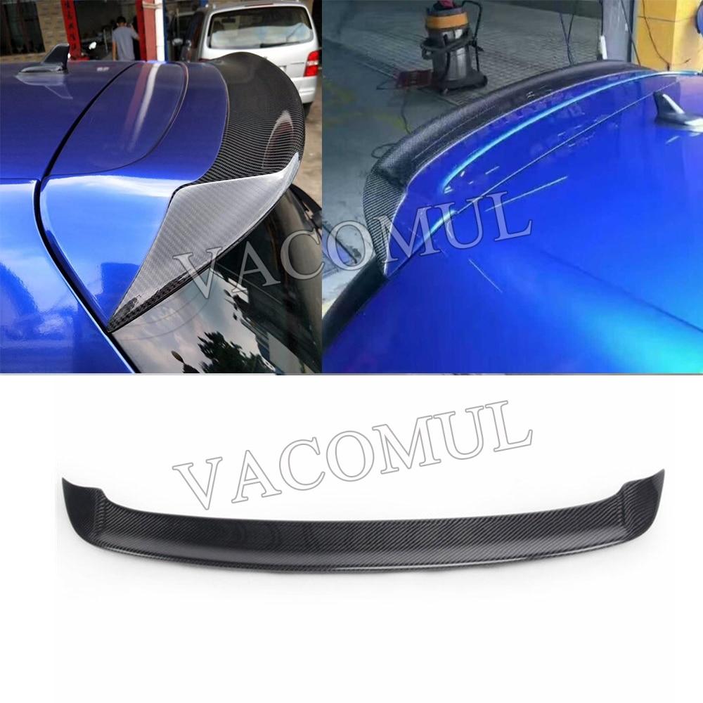 Carbon fiber rear roof spoiler lip wings for Volkswagen VW Golf 6 MK6 VI GTI R20 2010 2013 R Style Only GTI R20 not standard