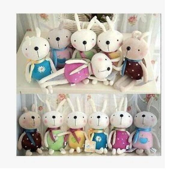 1pcs Many Color Smile Rabbit Cute And Pretty Plush Toys Wedding Decorations Birthday Present Free Shipping