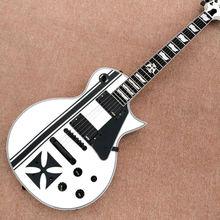 New Factory Custom Shop White Metallica James Hetfield Iron Cross Signature Ebony fingerboard Electric Guitar Free Shipping