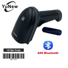 Portable mini Wireless 1D Barcode reader scanner Bluetooth handheld mobile scanner For Android iOS iPad phone and Computer used 134 2khz 125khz animal stick reader lf handheld bluetooth or usb portable scanner