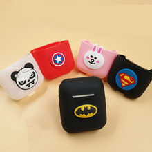 Cartoon Soft Silicone Headphone Case Portable Earphone Cover Soft Super Hero Headset Box for Apple Airpod TSLM1