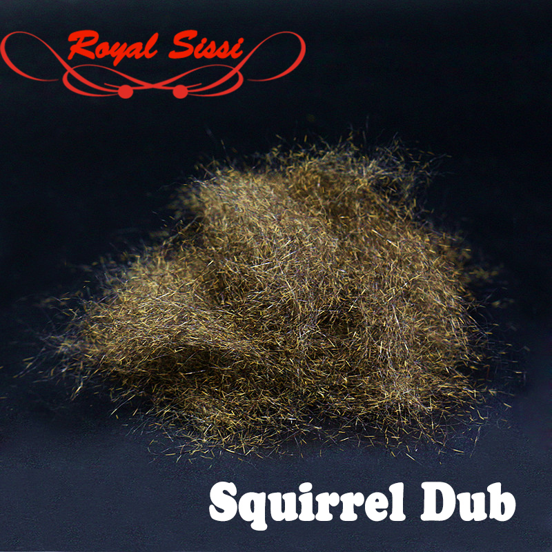 Royal Sissi 2bags total 4g superb fly tying squirrel dub Mottled natural squirrle hair perfect spiky nymphs fly tying materials