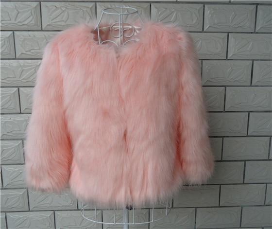 Gekleurde Winterjas Dames.Mode Vrouwen Gekleurde Faux Fur Jas Korte Slanke Zwart Roze Bontjas