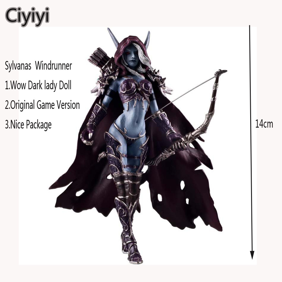 Classic Game Wow Darkness Lady Sylvanas Windrunner PVC Action Figure Toy Cartoon Wow Sylvanas Windrunner Display Collection DollClassic Game Wow Darkness Lady Sylvanas Windrunner PVC Action Figure Toy Cartoon Wow Sylvanas Windrunner Display Collection Doll