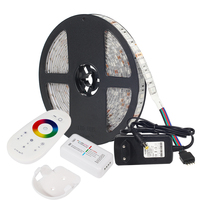 LED STRIP Kit DC12V LED Strip 5050 RGB RGBW RGBWW 60LED/m 5 M met 2.4G RF LED Controller & 12 V Voeding EU Plug