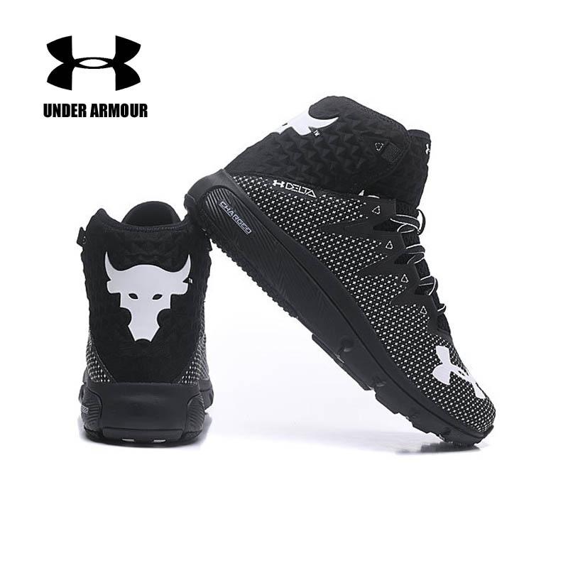 Под Броня мужчины проект рок Дельта Баскетбольная обувь новые спортивные ботинки мужские Нескользящие кроссовки на подушке Zapatos de Hombre US7-11