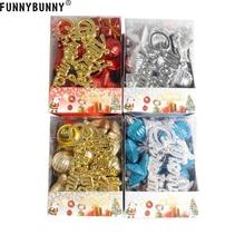 FUNNYBUNNY 28pcs/set Christmas Ornaments Balls Drums Bells Baubles Xmas Tree Pendant decoration все цены
