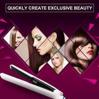 White Professional Multifunctional Ceramic Vapor Steam Hair Straightener Argan Oil Steam Hair Styling Tool Straightener EU