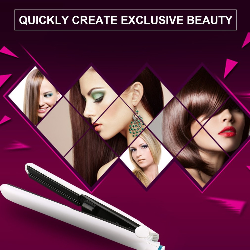 White Professional Multifunctional Ceramic Vapor Steam Hair Straightener Argan Oil Steam Hair Styling Tool Straightener EU/US professional salon steam styler ptc ceramic vapor steam hair straightener personal use hair styling tool heating iron 110 220v