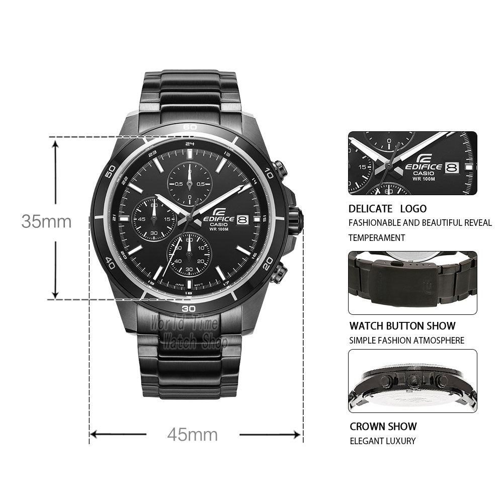 Image 2 - Casio Edifice watch men top luxury set Waterproof Luminous Chronograph men watch Sport military quartz Watch relogio masculino-in Quartz Watches from Watches