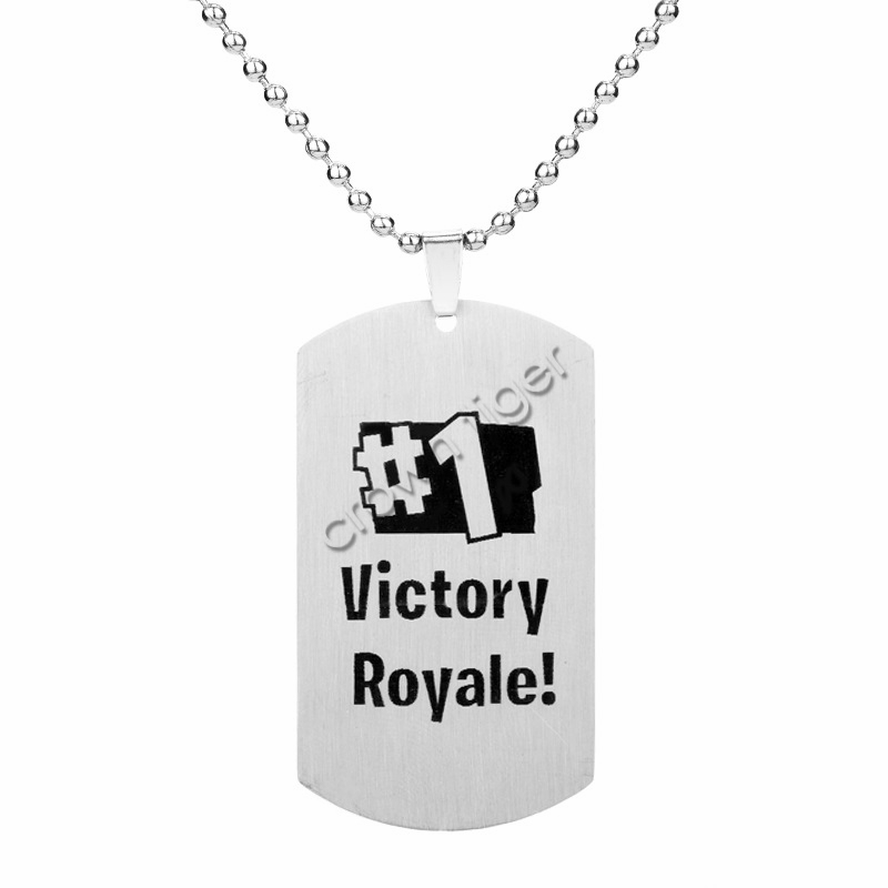 1pc game battle royale necklace for kids children adults action toy figure Stainless steel necklace
