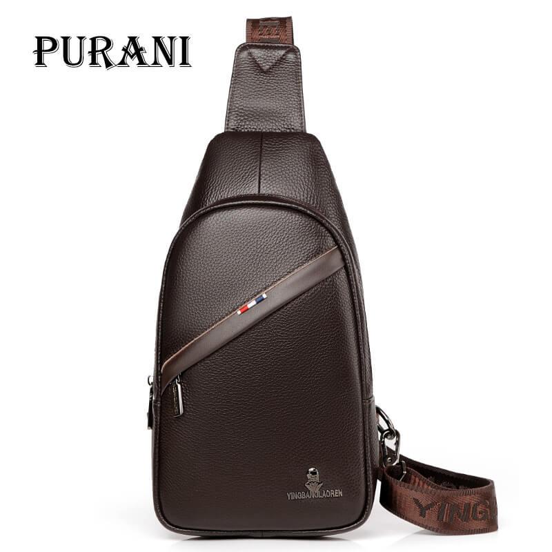 PURANI petit sac à bandoulière pour hommes sac Messenger 100% en cuir véritable sacs à bandoulière pour hommes sac à bandoulière pour hommes