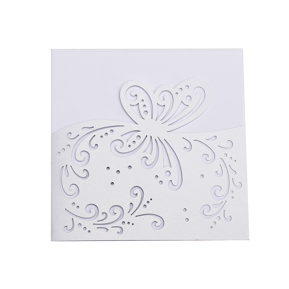 20 PCS Romantic flowers pattern design Wedding & Engagement House Moving Birthday party invitation cards,laser cut invitations