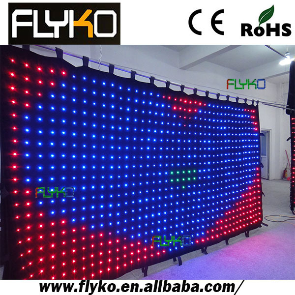 p10 4x2m best price rgb flexible led curtain wall