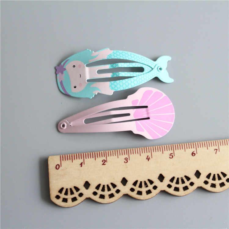4 Uds. Nueva encantadora carcasa de sirena BB Clips niñas accesorios para el cabello niños horquillas para la cabeza niños Clips para el cabello de bebé tocado