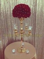 Gold Wedding Candelabras Table Centerpiece