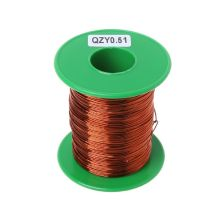 100m High Temperature Polyester Imide Enameled Copper Wire 0.51mm QZY-2/180 qzy 2 180 magnet wire 1 0mm enameled copper wire magnetic coil winding item specifics high temperature copper wire 60m