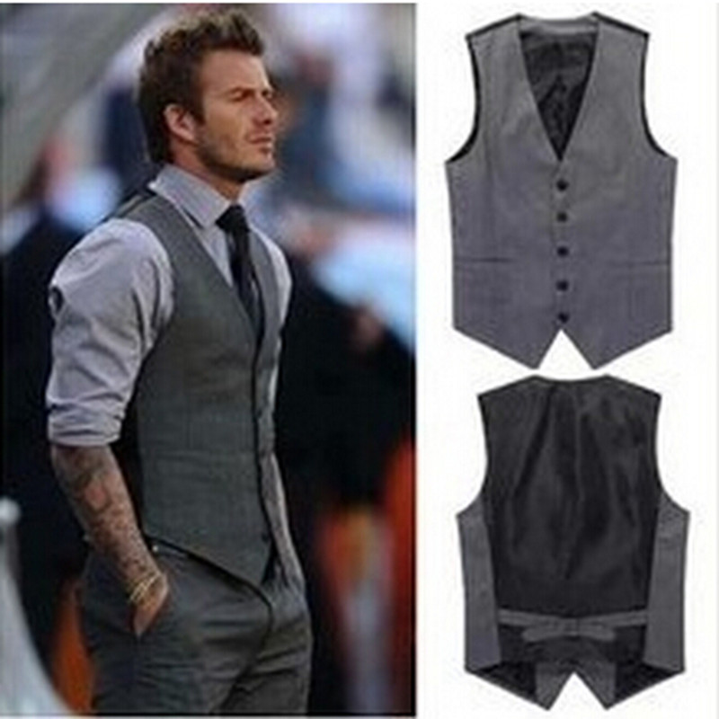 f7a10925217 XMY3DWX 2017 New Men s Vests Hot Sale   Men s suits vest Autumn Male Casual  Slim V neck Vest Business Suit Vests business-in Vests from Men s Clothing  on ...