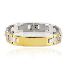 8812c97ef472 316L acero inoxidable y brazalete para hombres mujeres pulseras de  identificación de la joyería nunca Rust pulseras de identific.