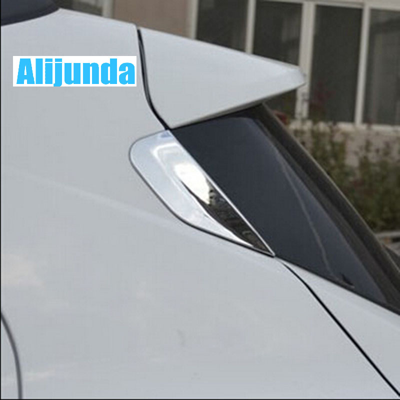 Chrome Rear Window Triangle Trim Moulding Exterior Fit For Buick Encore  OPEL VAUXHALL MOKKA 2013 2014