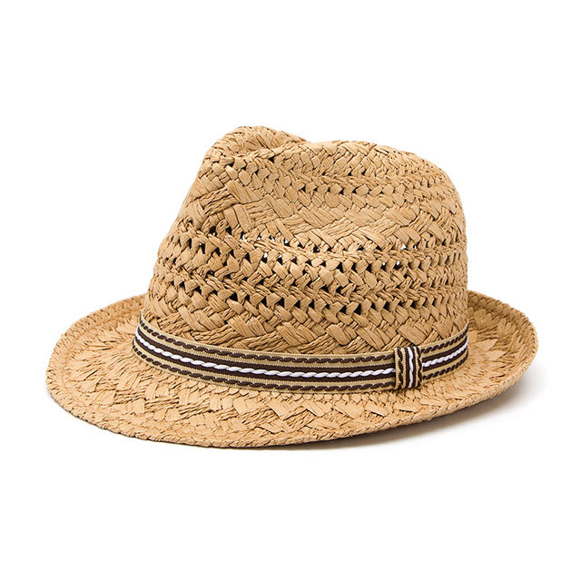 6f707c0e498 100% Handwork Women Summer straw Sun hat fashon laday Boho Beach Fedora hat  Sunhat Trilby Men Panama Hat Gangster Cap Good Pack