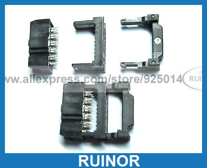 ФОТО 200 Pcs Mini 10pin IDC Cable Header Connector 2.54mm Pitch