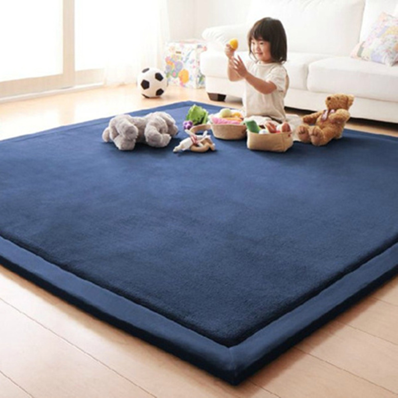 2CM Thick Coral Fleece Mat Carpet 80x200CM Tatami Tea Table Manually Bedroom Carpet Rectangle Living Room Rug