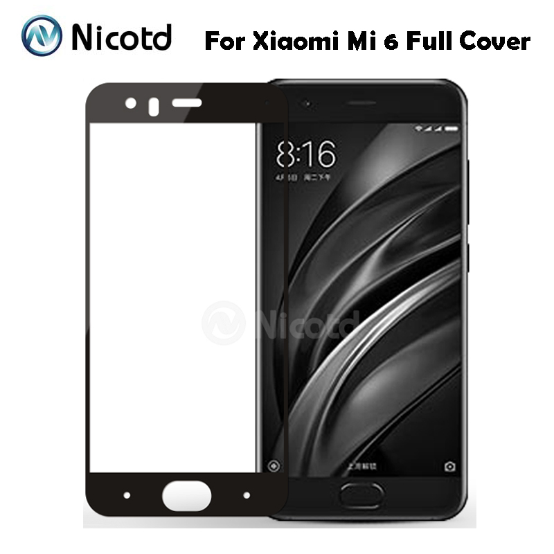 10Pcs Color Full Cover Tempered Glass For Xiaomi Mi 6 Mi6 Mobile Phone 5 15 Anti
