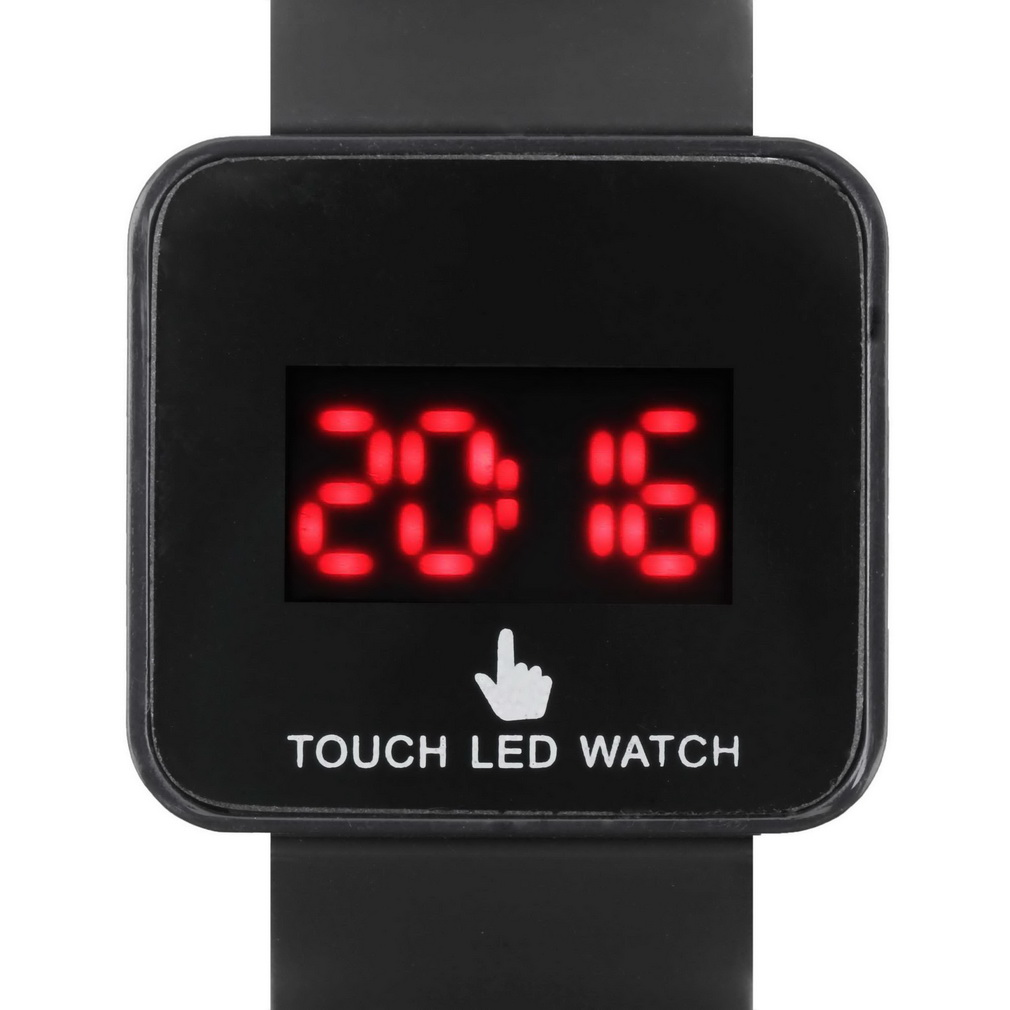 Digital LED Colorful Touch Screen Silicone Date Time Unisex Sport Stylish Wrist Watch For Lover's