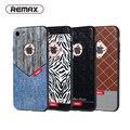 Remax caso para iphone 7 pele bezerro de luxo capa de couro para iphone 7 plus ultra slim moda para 4.7/5.5 polegada de homens de negócios estilo