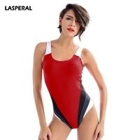LASPERAL One Piece Bathing Suit Women Maillot Athletic Training Trikini Quick Dry Swimsuit Monokini Large Size
