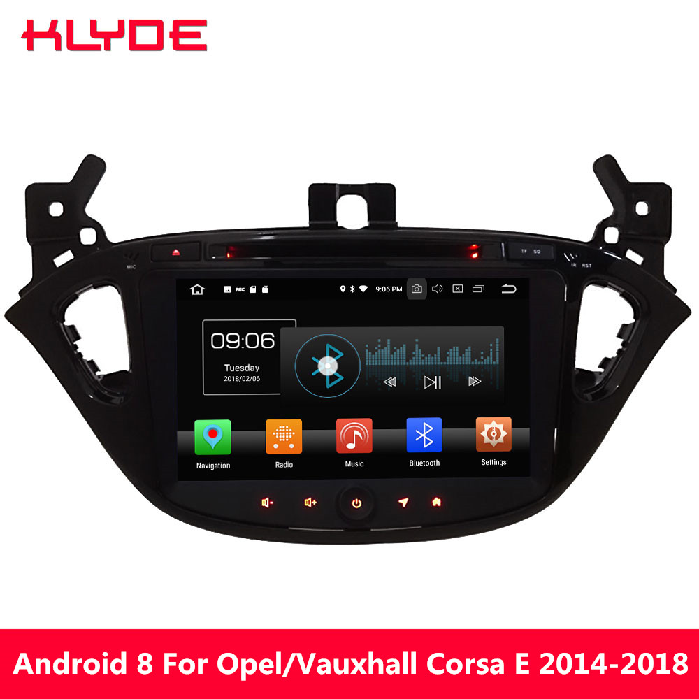 KLYDE 8 4G WIFI Android 8.0 Octa Core PX5 4GB RAM 32GB ROM Car DVD Multimedia Player Radio For Opel/Vauxhal Corsa E 2014 2018