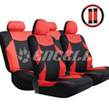 TS15 Popular 13 Pieces Car Interior Accessories Car Styling Red Gray Universal Seat Car Covers Set for Car Styling