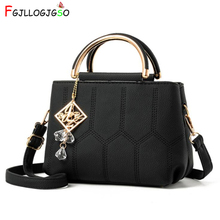 FGJLLOGJGSO Brand embroidery line women shoulder bag 2019 female messenger crossbody bags for female handbag lady leather totes