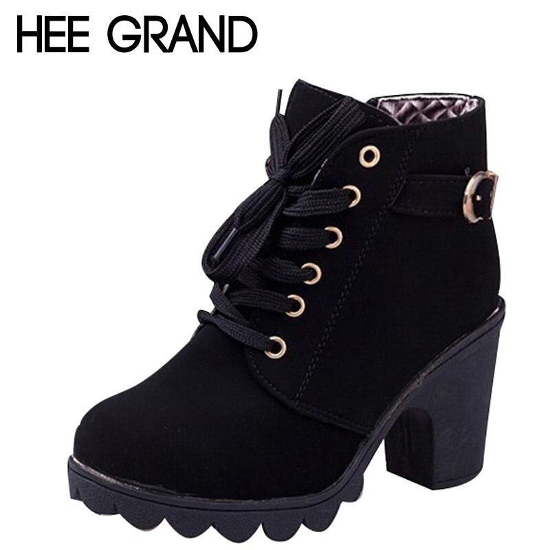 extrêmement unique prix modéré double coupon €13.2 50% de réduction|HEE grande marque plate forme à talons hauts unique  chaussures Vintage femmes moto bottes femmes bottes, taille 35 39, ...