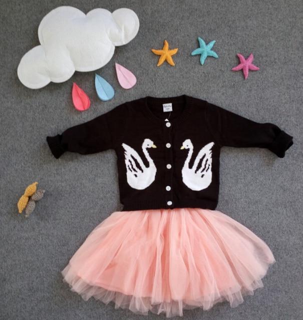 610b7d510a6a Korean Woolen Baby Girls Cardigan Sweater Children Warm Outwear ...