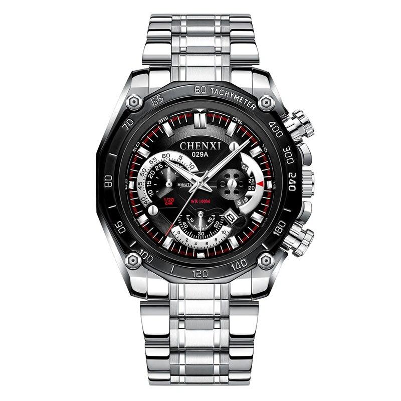 Men's Watch Mechanical-Watch Men Chronograph Sapphire Automatic Luxury Quartz-Clock Sport