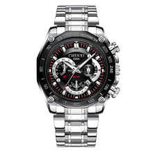 Men's Watch Automatic Watch with Sapphire Mirror Full Steel Quartz Clock Men Chronograph