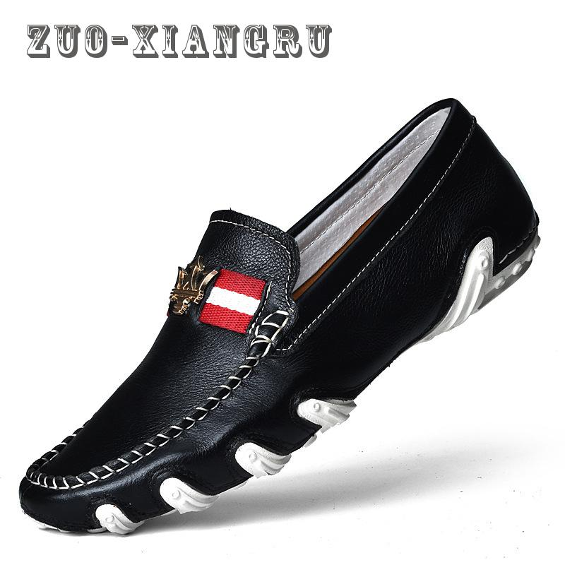 ZUOXIANGRU Men's Shoes New Hollow Out Breathable Cowhide Summer Genuine Leather High Quality Fashion Shoes Men Male Casual Shoe new 2017 men s genuine leather casual shoes korean fashion style breathable male shoes men spring autumn slip on low top loafers