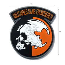 MILITAIRES FRONTIERES Metal Gear Solid Zonder Grenzen Het Leger Van PVC Tactische Militaire Patches Badges Stickers 6*7 CM(China)