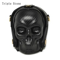 Black Fashion Women Leather HandBag Skeleton Skull Crossbody Bag Evening Handbag Lady Daily Messager Bag Clutch Purse Wallets