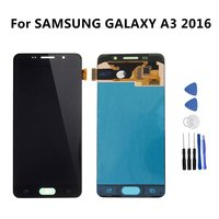 For SAMSUNG GALAXY A3 2016 LCD A310 A310F SM A310F Display Touch Screen Digitizer Assembly Replacement
