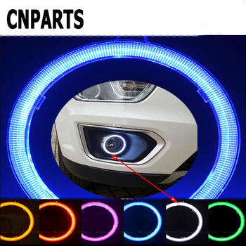 CNPARTS 2PCS Car Ring Angel Eyes Headlight Decorative Lights LED For Alfa Romeo 159 BMW E46 E39 E36 E90 Audi A3 A6 C5 A4 B6 B8 image